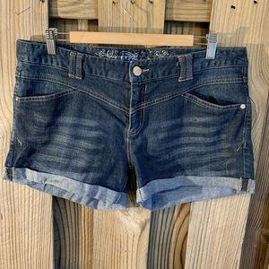 Express Jeans Denim Shorts Cuffed 14 Stretch